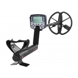 Minelab E-TRAC Metal Detector shown in full view starting at the arm rest
