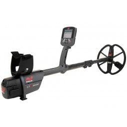 Minelab CTX 3030 Standard Metal Detector with Wireless Headphones shown at an angeled profile view