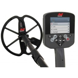 """Panel and 17"""" DD Smart Coil attached to Minelab CTX 3030 Standard Metal Detector with Wireless Headphones"""