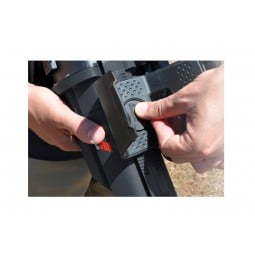 Man sliding the arm rest on a Minelab CTX 3030 Standard Metal Detector with Wireless Headphones