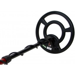 Closeup on top of search coil of Minelab X-Terra 305 Metal Detector