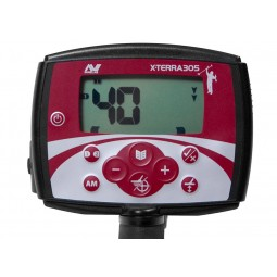 Closeup of control box of Minelab X-Terra 305 Metal Detector