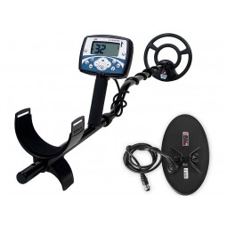"""Minelab X-Terra 705 Dual Pack shown with included 5x10"""" DD and 9"""" Concentric Search Coils"""
