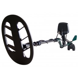 Closeup of Teknetics T2 Special Edition Metal Detector search coil on shaft