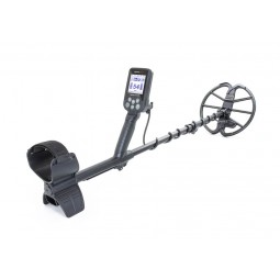 Nokta Makro Simplex+ Metal Detector with Wireless Headphones with arm sling to the left
