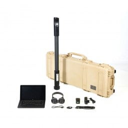 OKM Fusion Professional with Tablet PC shown with carrying case and accessories from Kellyco Metal Detectors