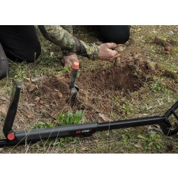 Man digging for treasure found with Minelab GO-FIND 44 metal detector