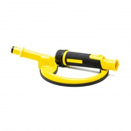 Disassembled Yellow Pulse Dive with 8 inch Coil on White Background