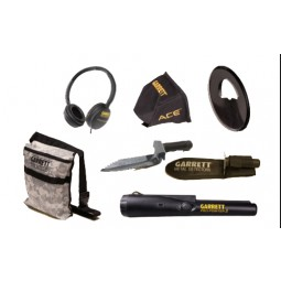 Accessories included with Garrett ACE 300 Metal Detector Special Scouts Detecting Kit from Kellyco Metal Detectors