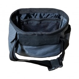 Open View of DetectorPro Gray Ghost Ultimate Catch-All Pouch on White Background