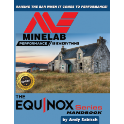 Minelab Equinox Official Guide, Blue with Red and Black Lettering