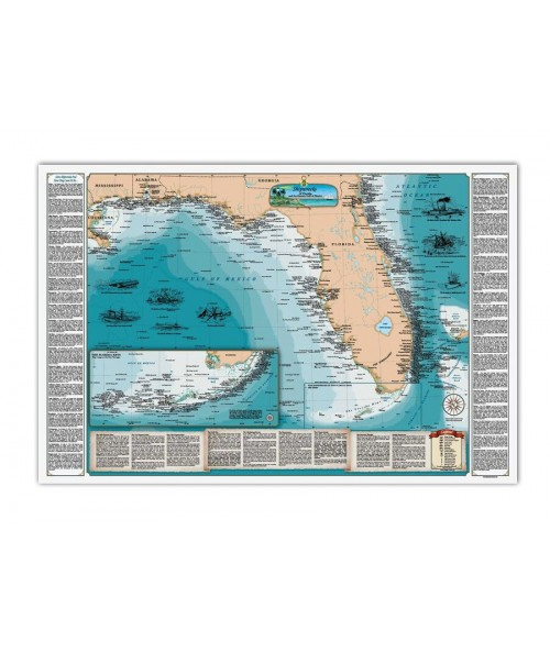 FL and the Gulf of Mexico Shipwreck Chart - Paper 1235 Image 1