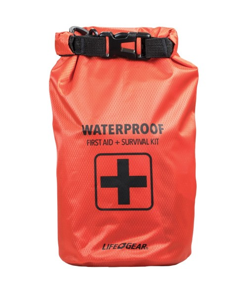 Life + Gear 130-Piece Dry Bag First Aid & Survival Kit