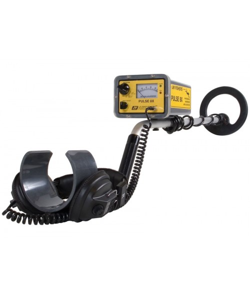 JW Fishers Pulse 8x Version 1 Metal Detector shown in full view from Kellyco Metal Detectors