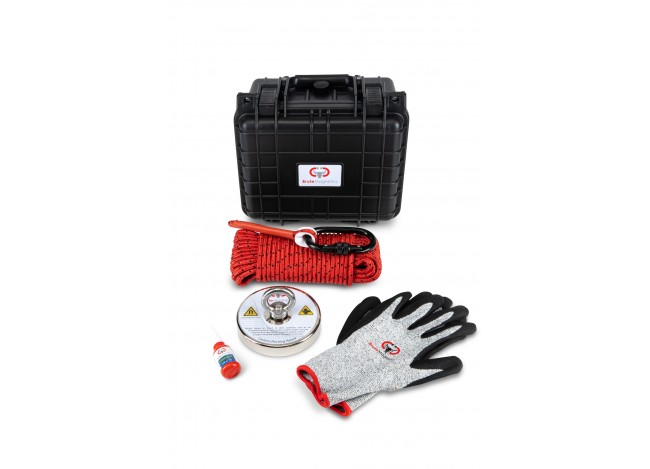Brute Magnetics Brute Box 1,200 lb Magnet Fishing Bundle with Gloves