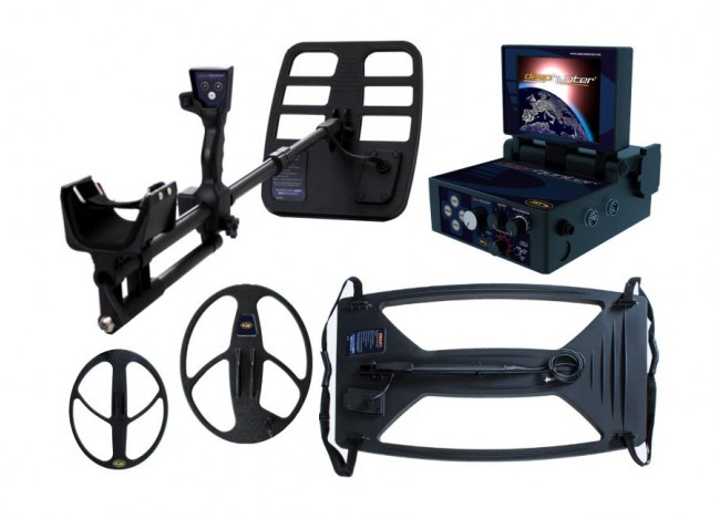 Nokta Makro Deephunter 3D Pro Package Metal Detector shown with all accessories from Kellyco Metal Detectors