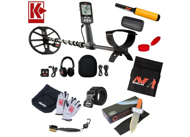 Minelab Equinox 800 Metal Detector with Pro Find 20, Digging Accessories and More