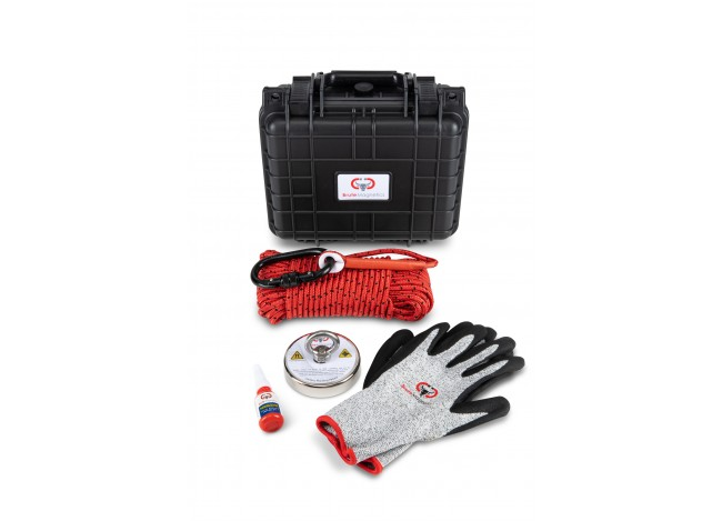 Brute Magnetics Brute Box 880 lb Magnet Fishing Bundle with Gloves