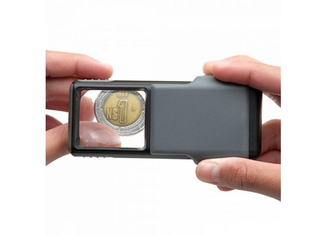 Carson 5x Slide-out LED Lens Magnifier with Protective Sleeve