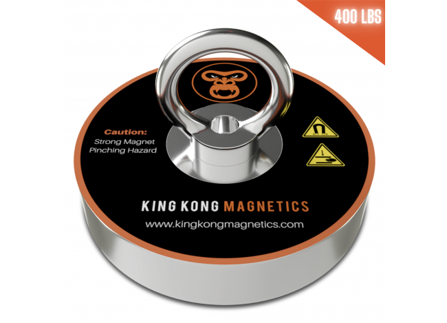 King Kong Single Fishing Magnet - 400 lbs