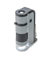 Carson 250x LED MicroFlip Pocket Microscope with Smartphone Adapter