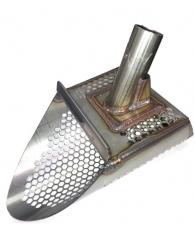 """Gold Digger T-Rex 9.5"""" Stainless Steel Sand Scoop - Honeycomb Holes"""