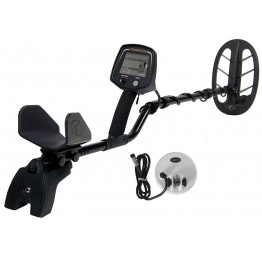 Teknetics T2 Special Edition Metal Detector shown with extra search coil from Kellyco Metal Detectors