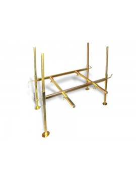 Gold Cube Zinc Plated Stand STAND Image 1