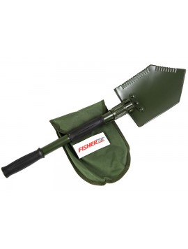 Fisher Folding Shovel & Pick with Logo Carry Pouch SHOVELFRL Image 1