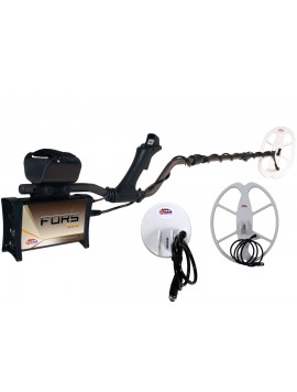 Nokta Makro FORS Gold Metal Detector Pro Package shown with accessories from Kellyco Metal Detectors