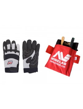 Minelab Gloves and Pouch