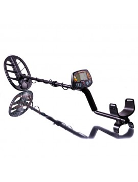 Teknetics Liberator Metal Detector on a reflective white background