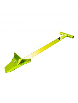 "Grave Digger Tools 36"" Snubnose Venom Green T-Handle Shovel"