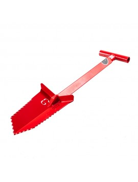 "Grave Digger Tools 27"" Nemesis Blood Red T-Handle Shovel"