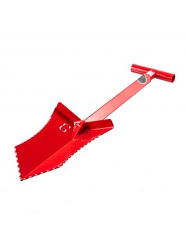 "Grave Digger Tools 27"" Tombstone Blood Red T-Handle Shovel"