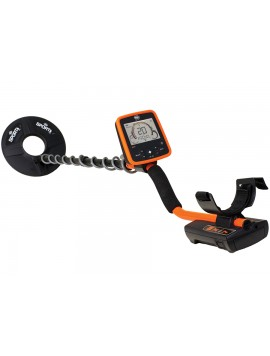 White's MX7 Metal Detector with orange shaft shown in full length