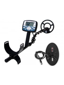 "Minelab X-Terra 705 Dual Pack shown with included 5x10"" DD and 9"" Concentric Search Coils"
