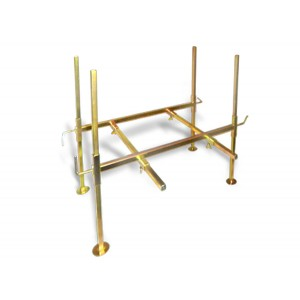 Image of Gold Cube Zinc Plated Stand