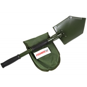 Image of Fisher Folding Shovel & Pick with Logo Carry Pouch