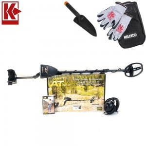 """Garrett AT Gold Metal Detector with Waterproof 5"""" x 8"""" DD Search Coil"""