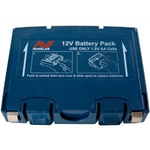 Image of Minelab Alkaline Battery Pack - Blue (Sovereign GT / Eureka Gold)