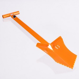 "Image of Grave Digger Tools 36"" Tombstone Illusion Orange T-Handle Shovel"