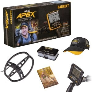 "Image of Garrett ACE Apex Metal Detector with 8.5"" x 11"" Multi-Flex DD Raider Coil Spring Special Accessory Bundle"