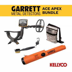 Garrett Ace Apex Metal Detector with Wireless Headphones Alpha Bundle