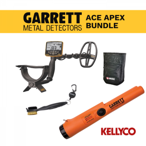 Garrett Ace Apex Metal Detector with Wireless Headphones Bravo Bundle