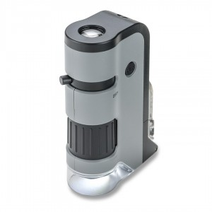 Image of Carson 250x LED MicroFlip Pocket Microscope with Smartphone Adapter