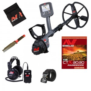 Image of Minelab CTX 3030 Metal Detector Bundle with Wireless Headphones, Finds Pouch, Digger & More