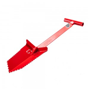 "Image of Grave Digger Tools 27"" Nemesis Blood Red T-Handle Shovel"