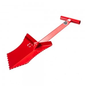 "Image of Grave Digger Tools 27"" Tombstone Blood Red T-Handle Shovel"