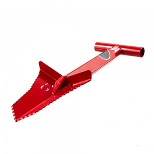 "Grave Digger Tools 18"" Snubnose Blood Red T-Handle Shovel"